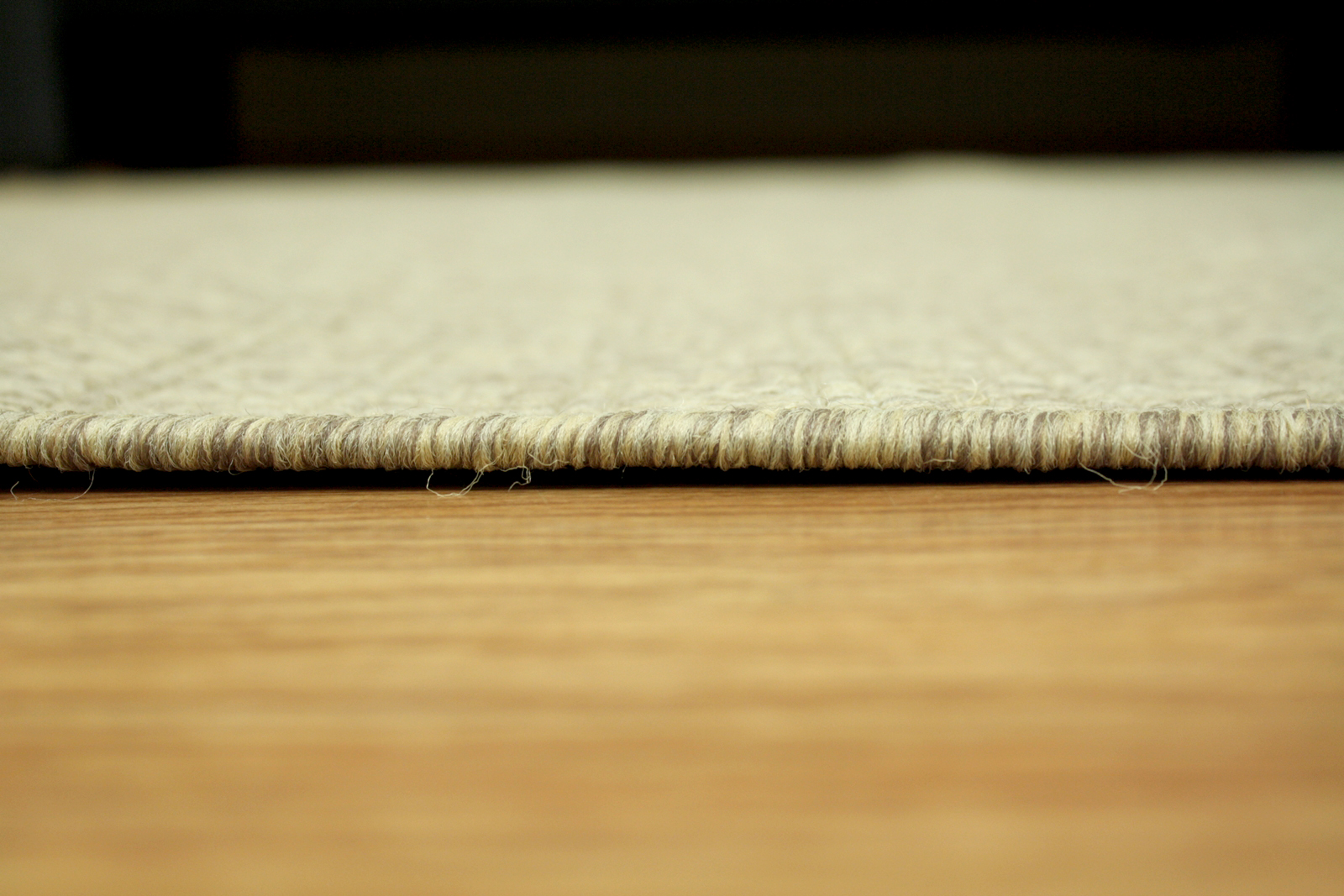 Teppich Agnella Diuna Ardea dunkles Beige flach gewebt s1
