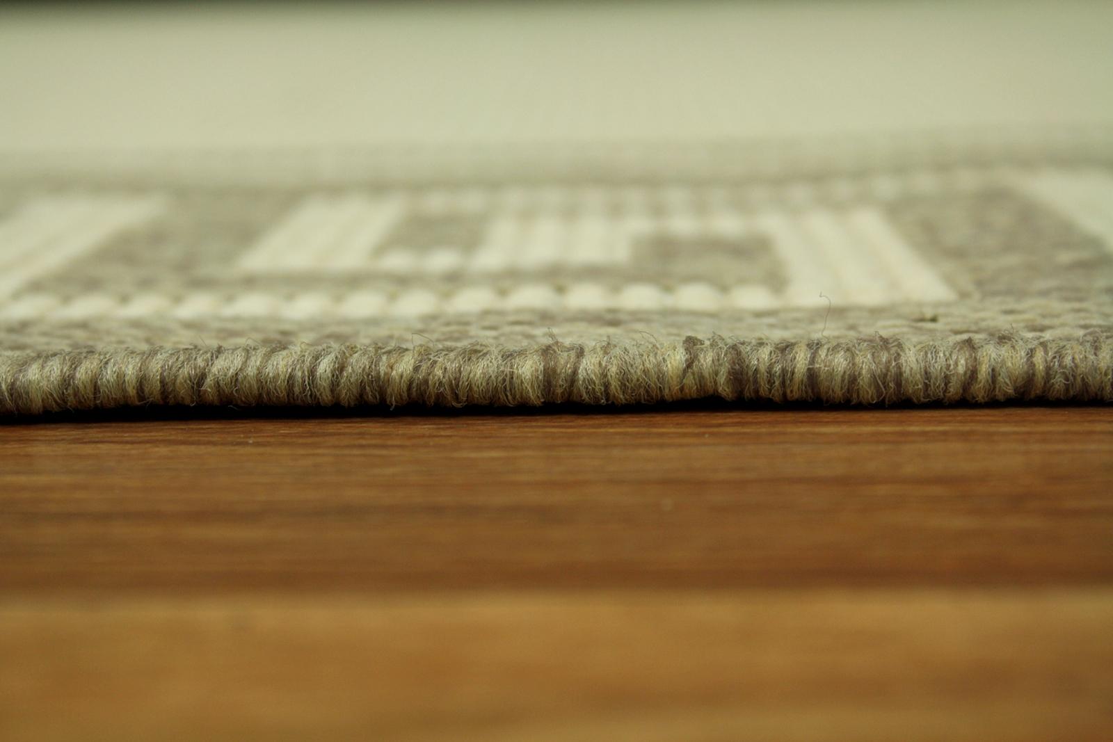Teppich Agnella Diuna Branta vanilla flach gewebt s1  eBay
