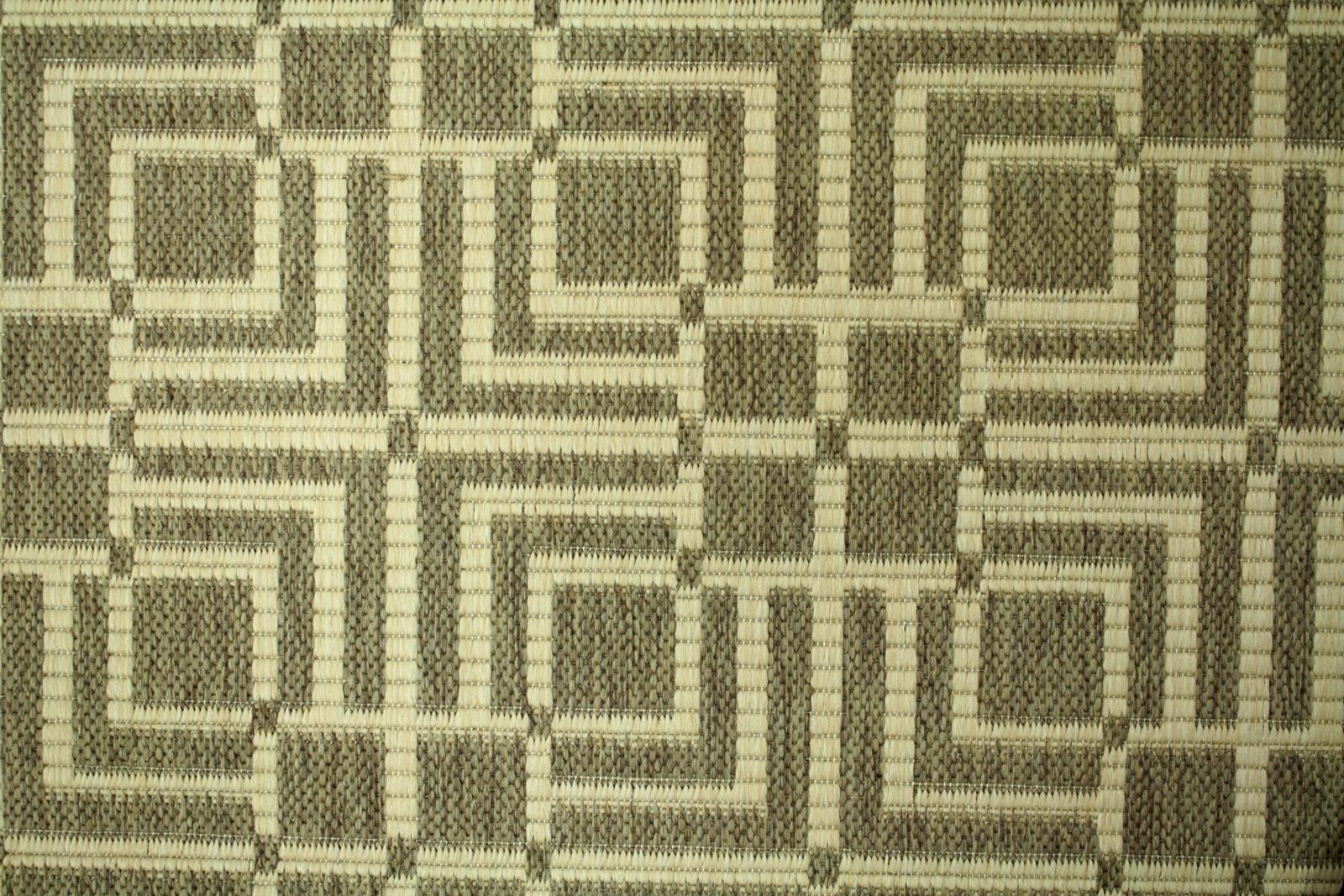 Teppich Agnella Diuna Ruff dunkles Beige flach gewebt s1