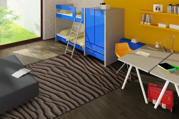 Teppich modern naturfarben strapazierfähig Agnella ECO