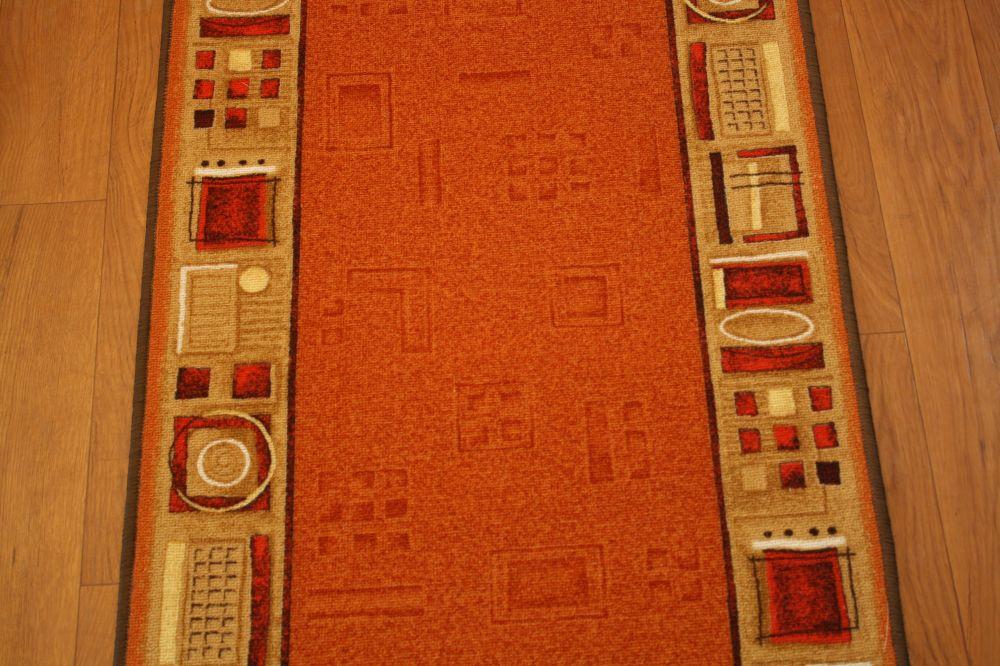 l ufer br cke teppich aw jena orange 84 breite 67 80 g rlitz. Black Bedroom Furniture Sets. Home Design Ideas