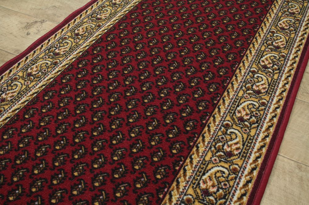 Läufer Teppichläufer antirutsch AW INCA breite 67,80,100cm rot beige meterware
